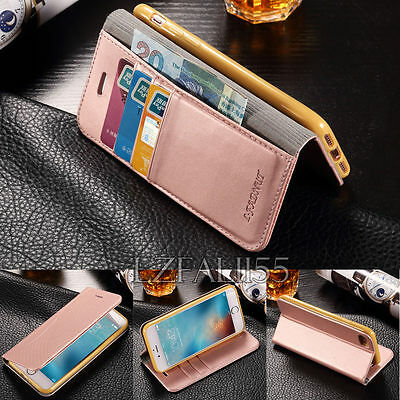 Leather Wallet Card Flip Stand Case Cover For Apple iPhone,Soft Silicone Cover