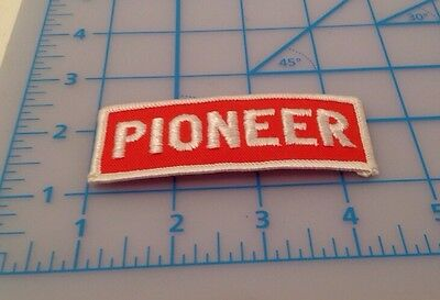 Pioneer Orange & White Embroidered Patch