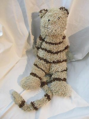 """16"""" Plush Jellycat Junglie Bunglie Striped Brown Tan Colored Kitty Cat Long Tail"""