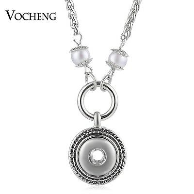 10pcs/lot Vocheng Snap Charms Pearl Necklace for Women 12mm Pendant NN-547*10