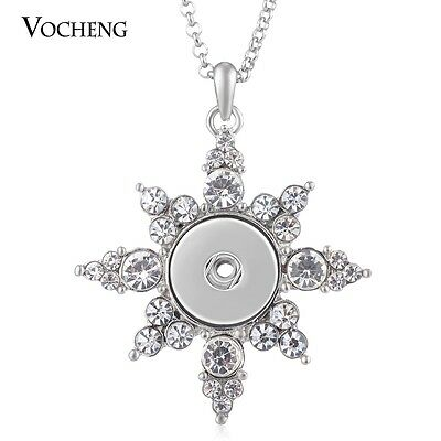 10pcs/lot 18mm Chunk Necklace Vocheng Snap Charm Stainless Steel Chain NN-548*10
