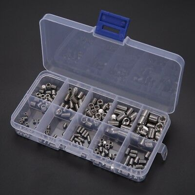 200x Stainless Steel Allen Head Socket Hex Set Grub Screw Assortment Cup Point