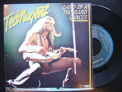 TED NUGENT land of a thousand dances / the TNT overture SPANISH 45 EPIC 1981 p/s
