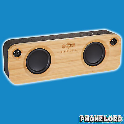 Genuine House of Marley Get Together Bluetooth speaker wireless bamboo loud wood