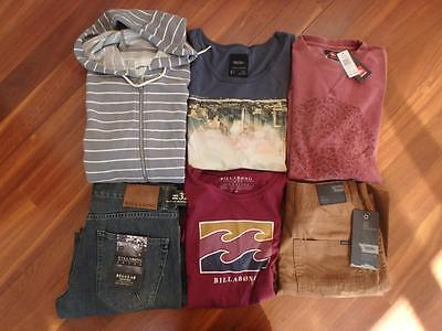 "Free Post Mens NWT  Surf Brand Clothes, Size M & 32"""",Country Road,Quicksilver"