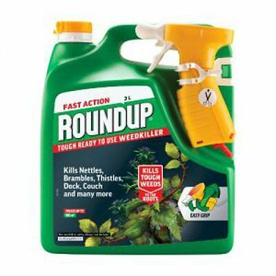 NEW Fast Acting Roundup Tough Weedkiller RTU 3 Litre