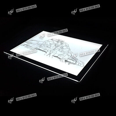 Large A3/A4 LED Ultra Slim Art Craft Tracing Tattoo Light Box Lightbox Pad Board