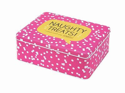 Happy Jackson Naughty Treats Tin Biscuits Treats Food Storage Container Pink
