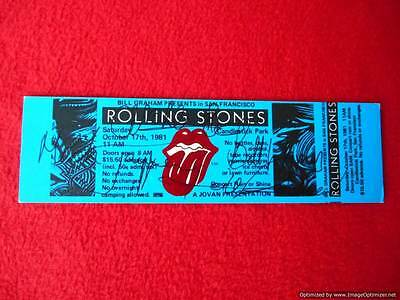 Rolling Stones Candlestick Park Ticket Signed
