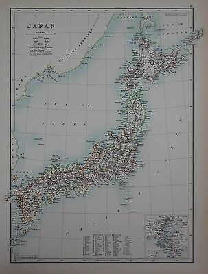 1897 Japan With Environs Of Tokio Large Map