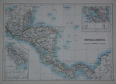 1897 Central America Large Map