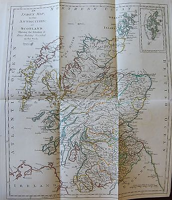 1790 Grose Map Index To The Antiquities Of Scotland