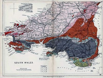 1904 Geological Map Stanford South Wales