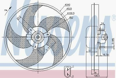 NISSENS Radiator Cooling Fan OE Quality - 85668