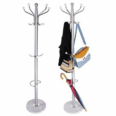Tree Style Coat Stand 15 Hooks Multi Coat Hat Rack Bag Rack Tree Style Metal