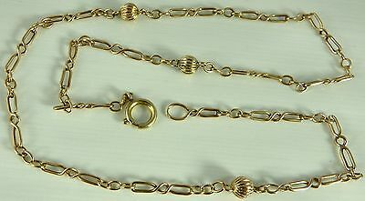 Antique 9ct solid yellow gold 17 inch long necklace chain Weighs 5.6 grams