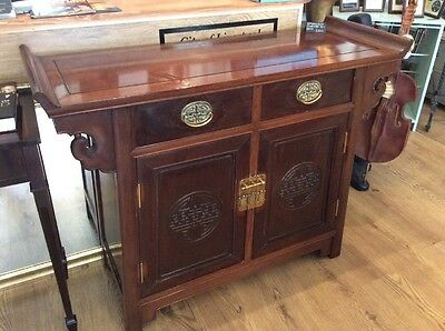 Early 20th Century Chinese Style Templar A Fronted Wooden Cabinet