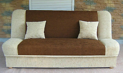 Sofa bed MADDY - many colours - 3 seater - huge storage - fabric or faux leater