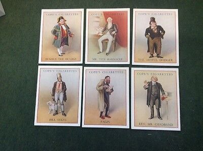 Full Set Of 25 Cope's Dickens Character Series Captain Cuttle, Mr Pickwick Quip.