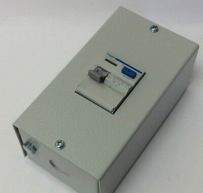 Hager 63 Amp Double Pole Rcd + Metal Enclosure 30Ma 230V Main Switch (Rcd)