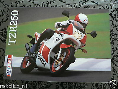 Y176 Yamaha Brochure Tzr250 1987 ? English 4 Pages ,is Little Damaged