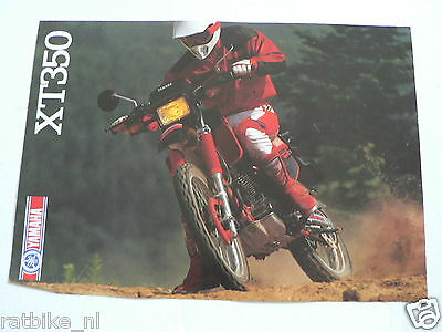 Y205-Yamaha Brochure Xt350 Offroad 1986 ? English 4 Pages Little Damaged