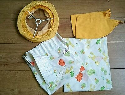 mothercare curtains with matching tiebacks and lampshade for nursery room