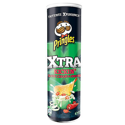 Pringles Xtra Kickin Sour Cream & Onion Chips, 175-g-Dose