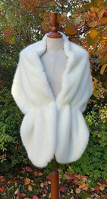 Fur Wrap Wedding Bolero Ivory Faux Fur Shawl Jacket Shrug Bride Bridesmaids 01