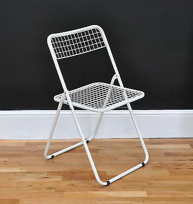 Set of 4 Vintage Industrial French Folding Cafe Garden Chairs