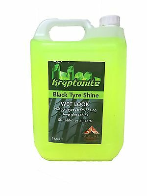 Tyre Shine Kryptonite 5L - Professional Use Oil Base Product - NEXT DAY DELIVERY