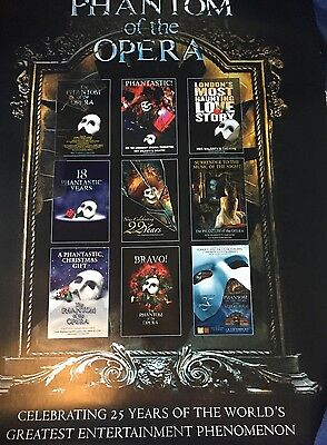 VERY RARE **Phantom Of The Opera 25th Anniversary Poster**LIMITED EDITION 95/500