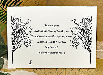 Sympathy bereavement card on the loss of a pet dog with forget me not seeds