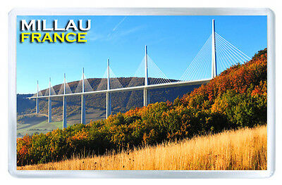 Millau Viaduct France Mod2 Fridge Magnet Souvenir Iman Nevera