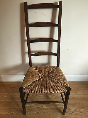 Ladder Back Rush Seated Chair