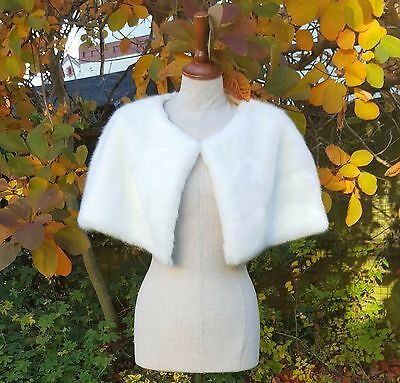Wedding Bolero Faux Fur Shrug Ivory Cape Shawl Jacket Bride Bridesmaids Wrap 02