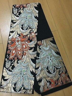 Beautiful Japanese Black / Pure Silk / Used from Japan