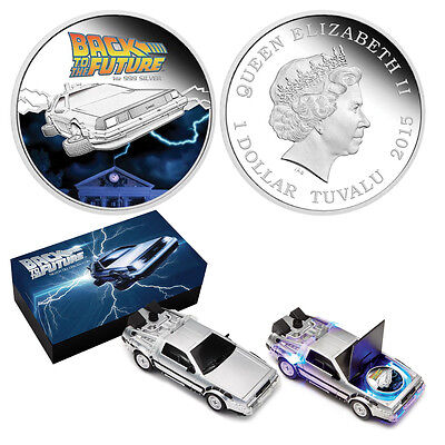 "2015 1oz. Silver ""Back to the Future"" Proof Coin"