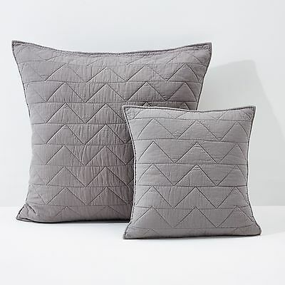 Quilted Cushion Cover/Pillowcase With Zigzag Stitching