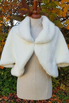 Wedding Jacket Faux Fur Ivory Bride Bridesmaids Bolero Wrap Stole Shawl Shrug 03