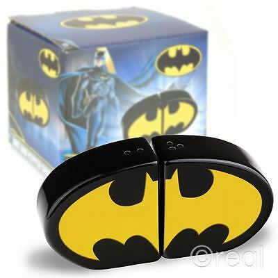 New DC Comics Batman Logo Salt & Pepper Shakers Ceramic Cruet Set Official