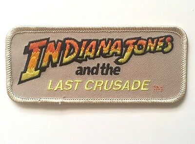 Indiana Jones and the Last Crusade Embroidered Patch Iron on or Sew on