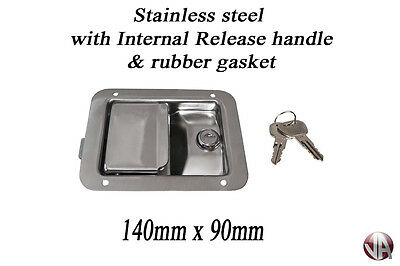 Paddle Lock Stainless Steel Recessed Flush Fit Surface Mounted Truck Horsebox