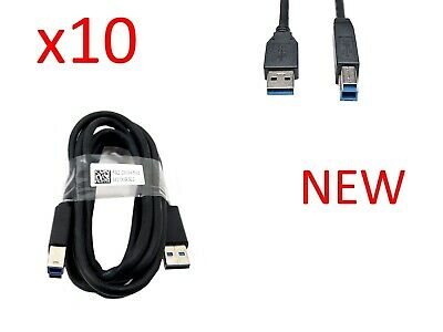 Lot of 10 New Genuine Dell USB 3.0 SuperSpeed A//B Upstream Cable 6ft 5KL2E05502