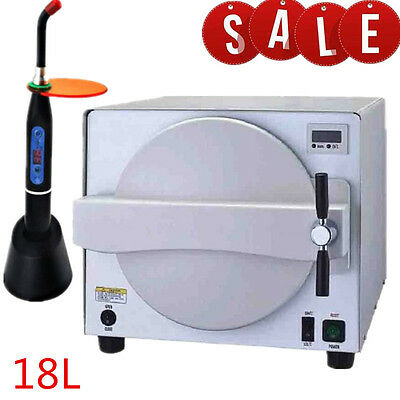 Dentist Dental Medical Lab Steam Sterilizer Equipment Machine 18L 900W Clinic CE