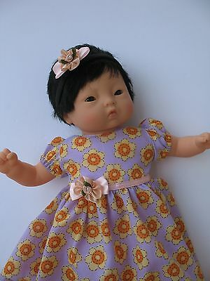 """Clothes for Corolle Mon Premier Calin 12"""" Baby Doll Dress,Headband"""