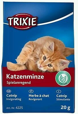 Trixie Catnip with Long Lasting Scent Cat Toy Catmint Nepeta Cataria Refill 20g