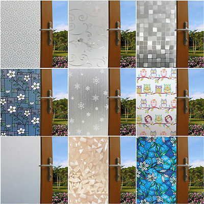 45CM Self-adhesive Window Film Glass Stickers For Home Office More than 30 style