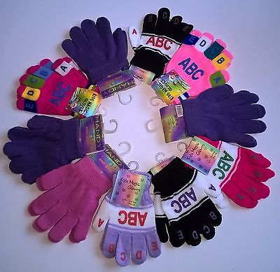 WHOLESALE JOB LOT MIX of x10 PAIRS KIDS CHILDRENS WINTER MAGIC GLOVES - NEW TAGS