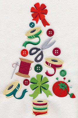 Embroidered Sewing notions christmas tree quilt block,sewingfabric,cushion panel